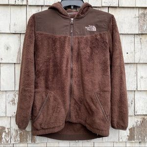 The North Face Girl's  Brown Fleece Jacket
